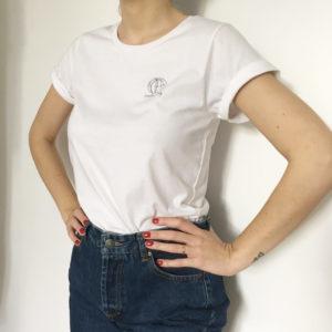 tshirt bio femme blanc
